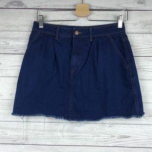 Zara Trafaluc Denim Jean Mini Skirt Size Small